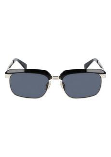 Salvatore Ferragamo 55mm Rectangular Sunglasses