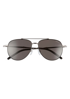 Salvatore Ferragamo 58mm Polarized Aviator Sunglasses