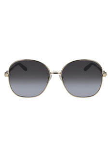 Salvatore Ferragamo 60mm Gradient Round Sunglasses