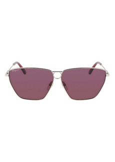 Salvatore Ferragamo 63mm Geometric Sunglasses