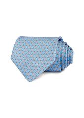 Salvatore Ferragamo Buckles & Gancini Silk Classic Necktie