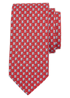 Salvatore Ferragamo Bull Print Silk Tie