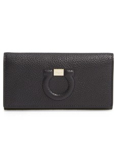 Salvatore Ferragamo City Grainy Leather Wallet on a Chain