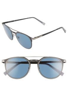 Salvatore Ferragamo Classic 52mm Round Sunglasses
