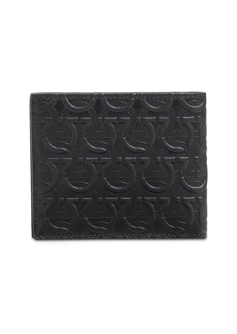 Salvatore Ferragamo Embossed Gancini Leather Wallet