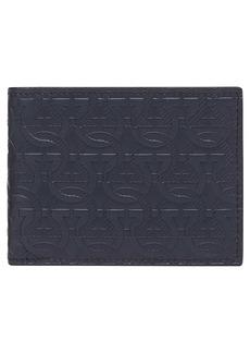 Salvatore Ferragamo Embossed Leather Travel Wallet