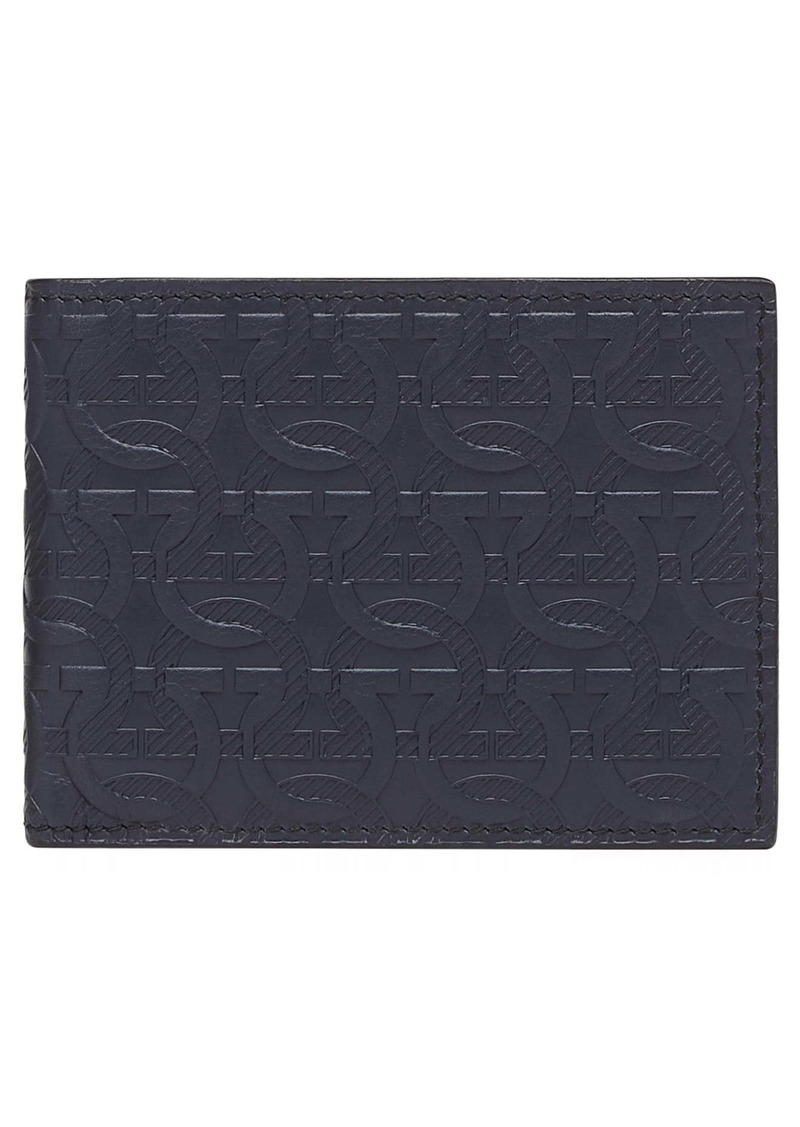 Salvatore Ferragamo Embossed Leather Travel Wallet