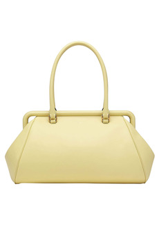 Salvatore Ferragamo Frame Leather Top Handle Bag