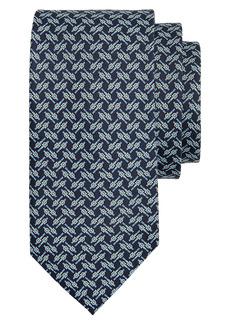 Salvatore Ferragamo Gancini Belt Print Silk Tie