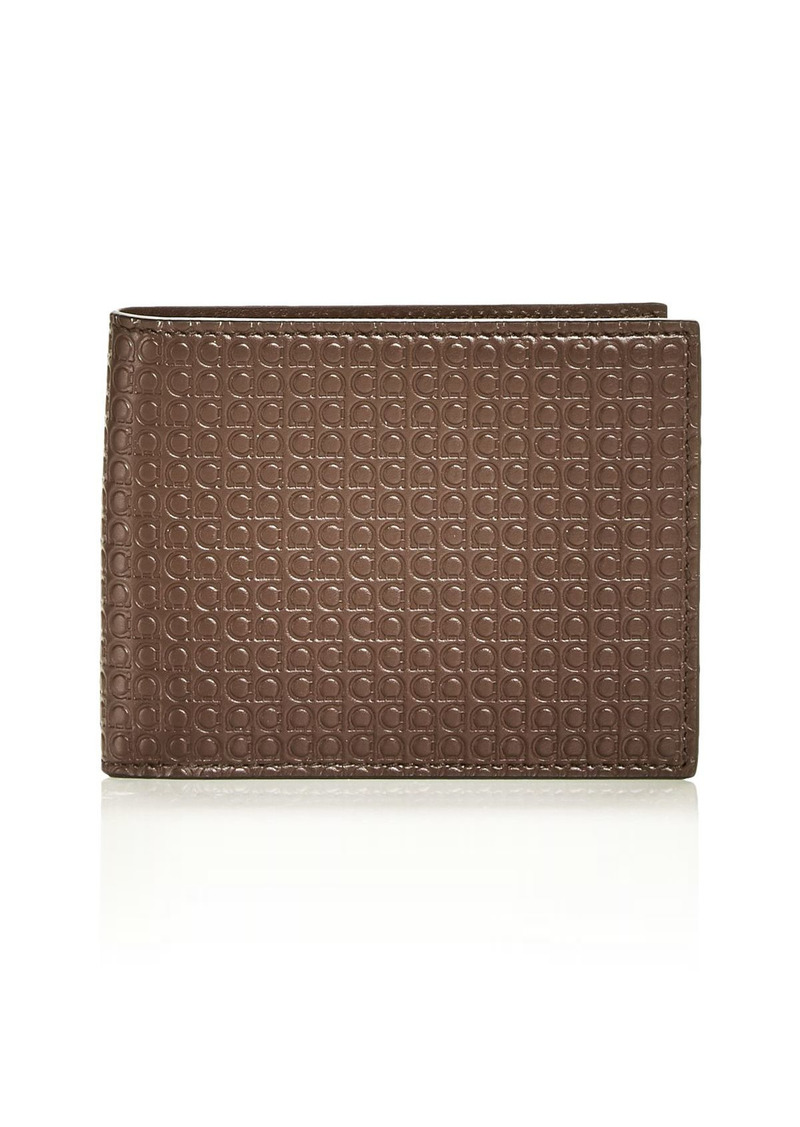 Salvatore Ferragamo Gancini Embossed Leather Bifold Wallet