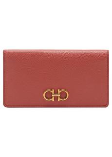 Salvatore Ferragamo Gancini Leather Continental Wallet