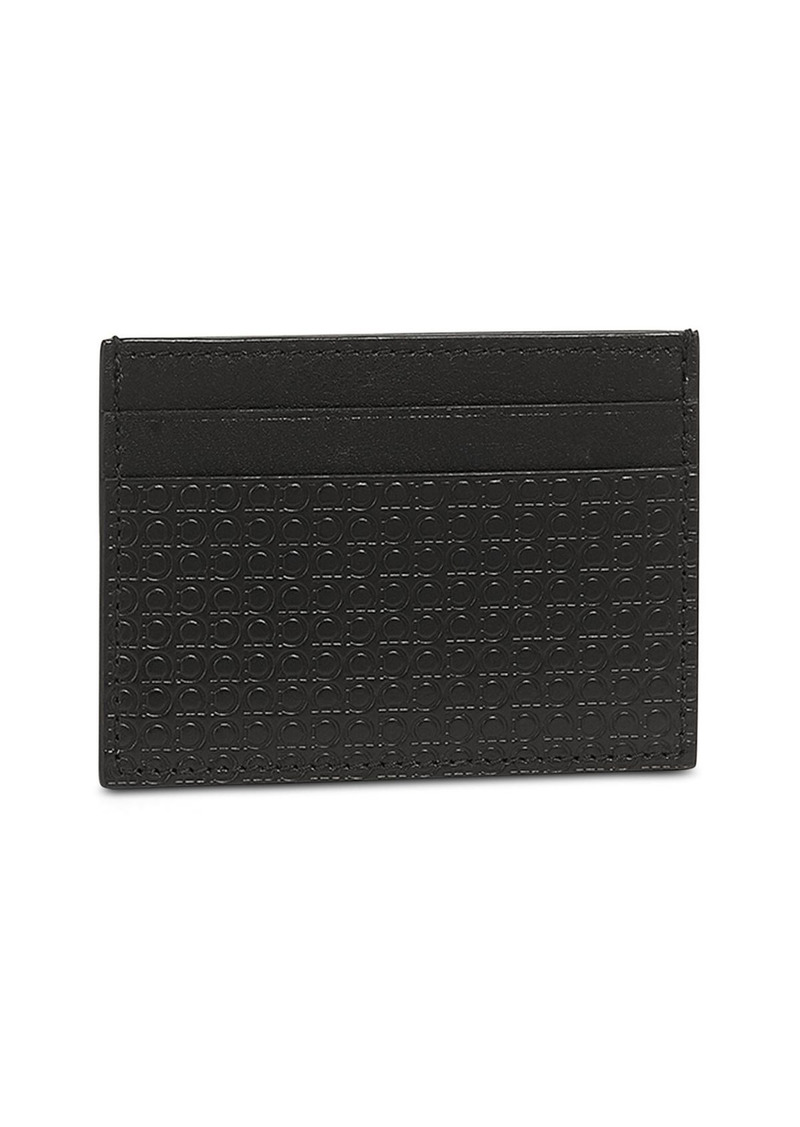Salvatore Ferragamo Gancini Leather Credit Card Holder