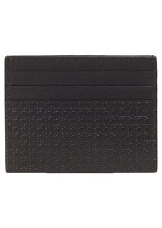 Salvatore Ferragamo Gancio Embossed Leather Card Case