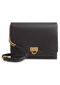 Salvatore Ferragamo Gancio Square Leather Crossbody Bag