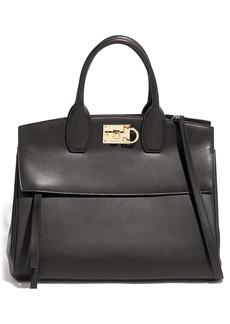 Salvatore Ferragamo Medium The Studio Leather Top Handle Bag