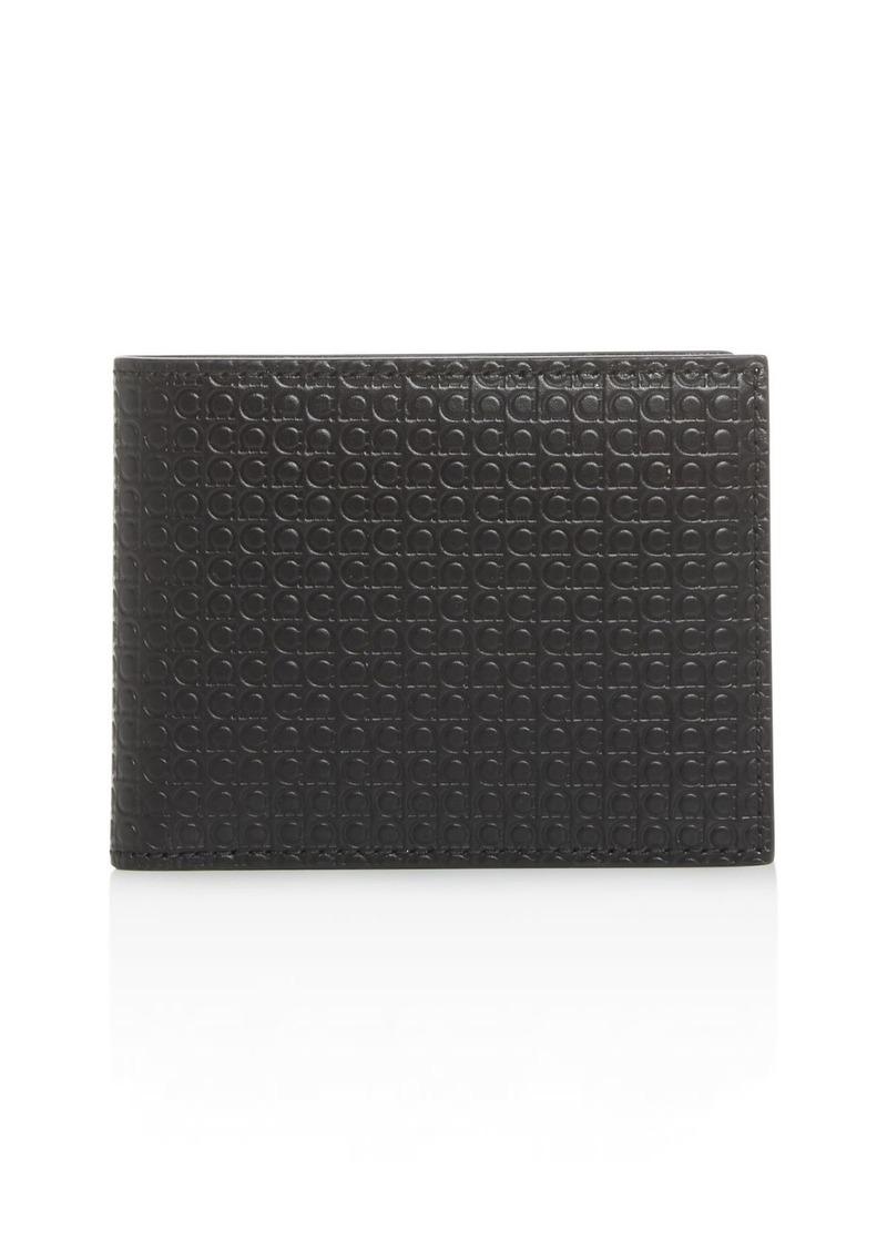 Salvatore Ferragamo Mini Gancini Embossed Leather Bi-Fold Wallet