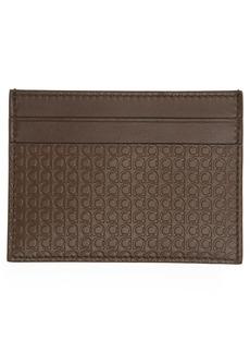 Salvatore Ferragamo Mini Gancio Leather Card Case