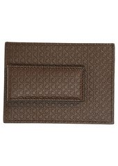 Salvatore Ferragamo Mini Gancio Leather Card Case