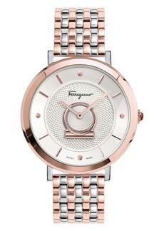 Salvatore Ferragamo Minuetto Bracelet Watch, 36mm