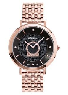 Salvatore Ferragamo Minuetto Diamond Bracelet Watch, 36mm