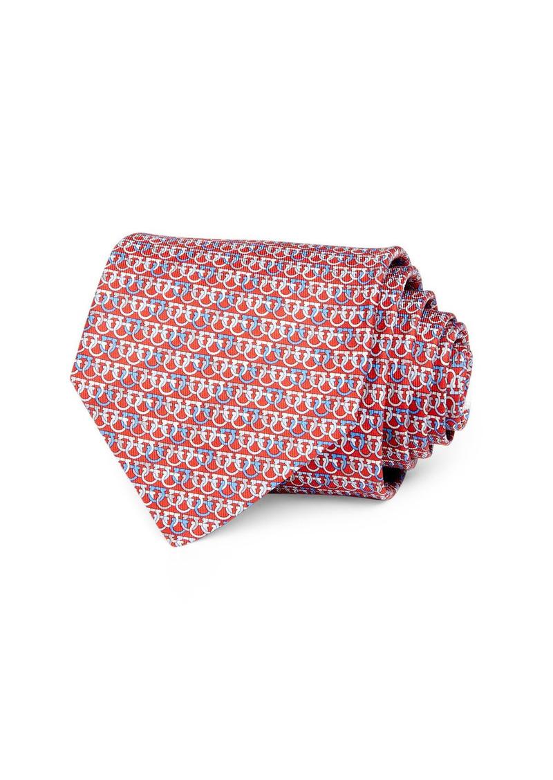Salvatore Ferragamo Olympic Gancini Silk Classic Necktie
