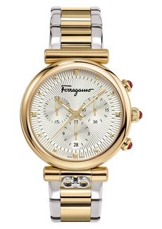 Salvatore Ferragamo Ora Chronograph Bracelet Watch, 40mm