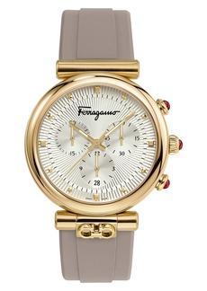 Salvatore Ferragamo Ora Chronograph Rubber Strap Watch, 40mm