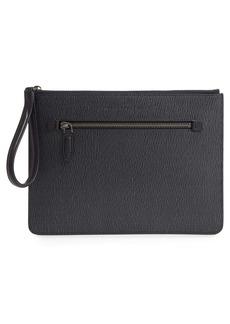 Salvatore Ferragamo Revival 3.0 Leather Zip Pouch