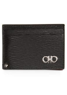 Salvatore Ferragamo Revival Calfskin Leather Card Case