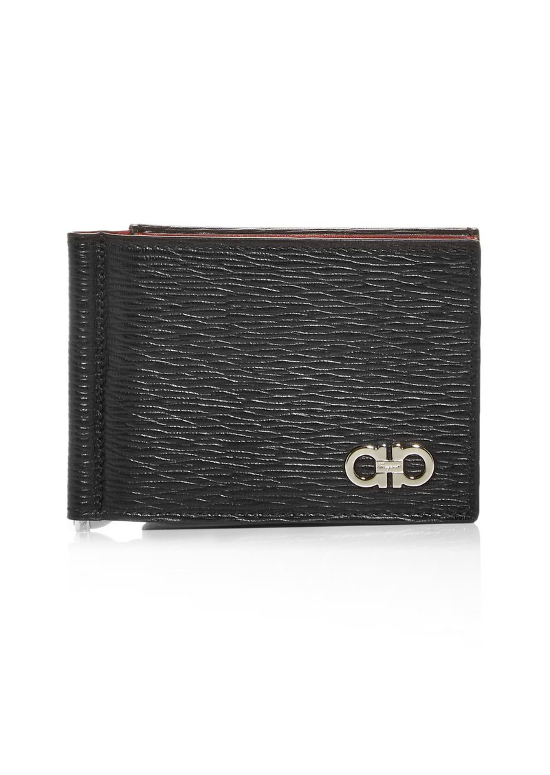 Salvatore Ferragamo Revival Leather Bifold Money Clip Wallet