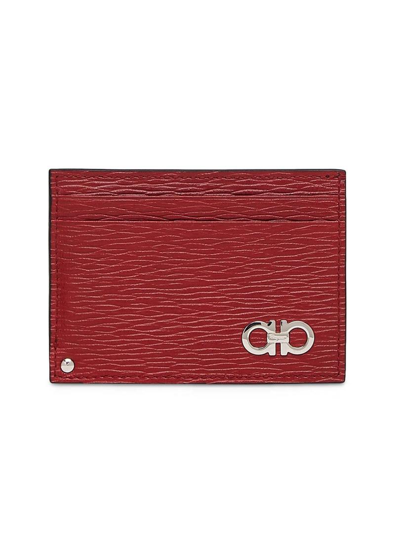 Salvatore Ferragamo Revival Leather ID Window Card Case