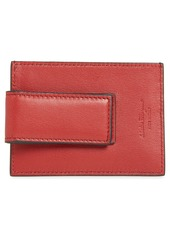 Salvatore Ferragamo Revival Leather Magnetic Money Clip Card Case