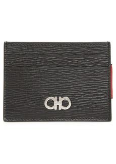 Salvatore Ferragamo Revival Leather Magnetic Money Clip Card Case