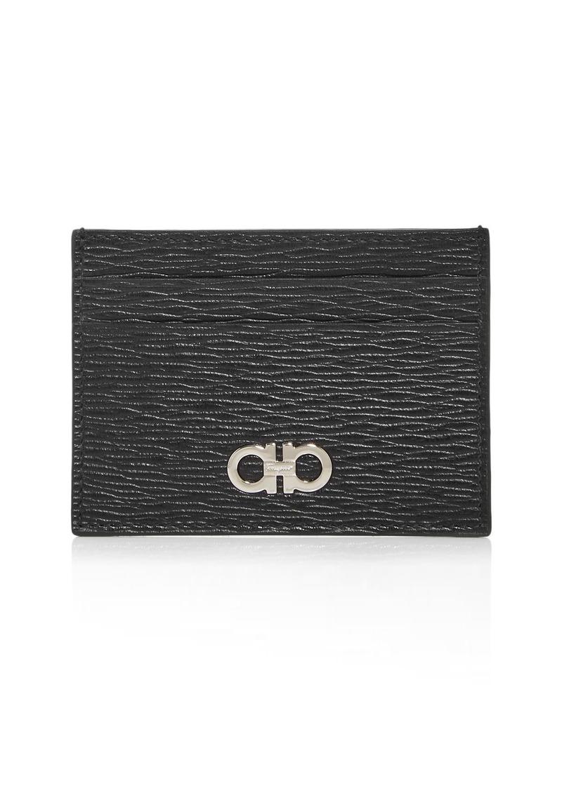 Salvatore Ferragamo Revival Leather Money Clip Card Case