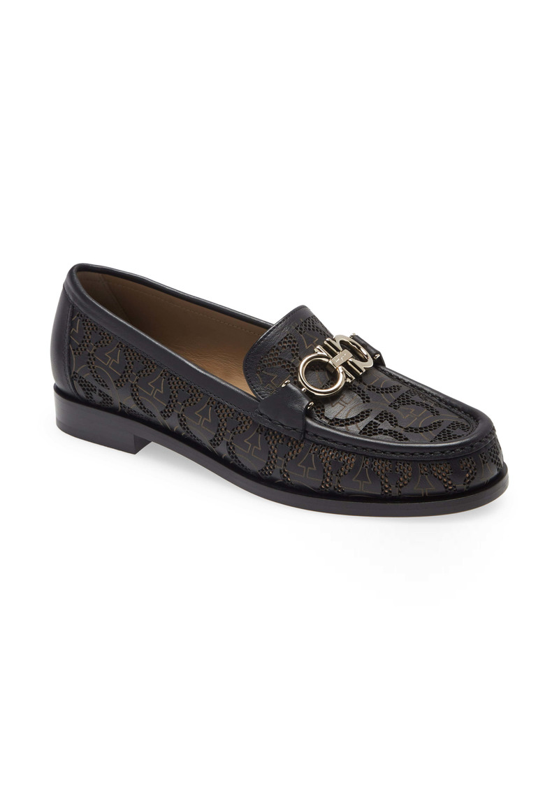 Salvatore Ferragamo Rolo Laser Cut Double Gancio Loafer (Women)