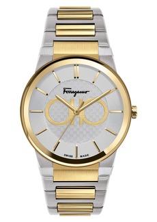 Salvatore Ferragamo Sapphire Bracelet Watch, 41mm