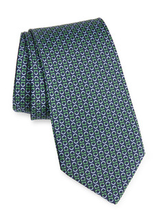 Salvatore Ferragamo Split Gancio Silk Tie