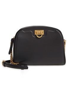 Salvatore Ferragamo Trifolio Leather Crossbody Bag