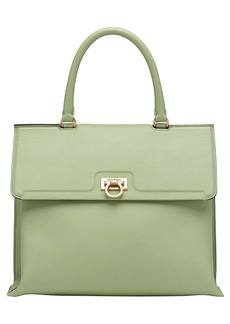 Salvatore Ferragamo Trifolio Leather Top Handle Bag