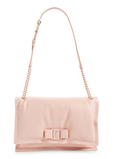 Salvatore Ferragamo Viva Bow Puffy Leather Shoulder Bag