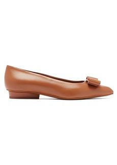 Salvatore Ferragamo Viva leather point-toe flats