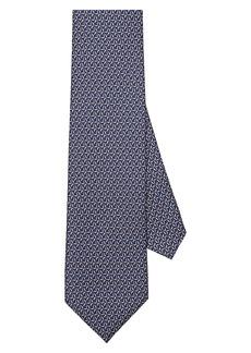 Salvatore Ferragamo Wind Turbine Print Silk Tie