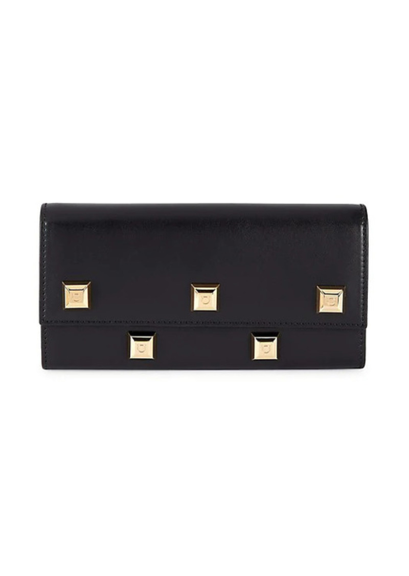 Ferragamo Small Leather Studded Wallet