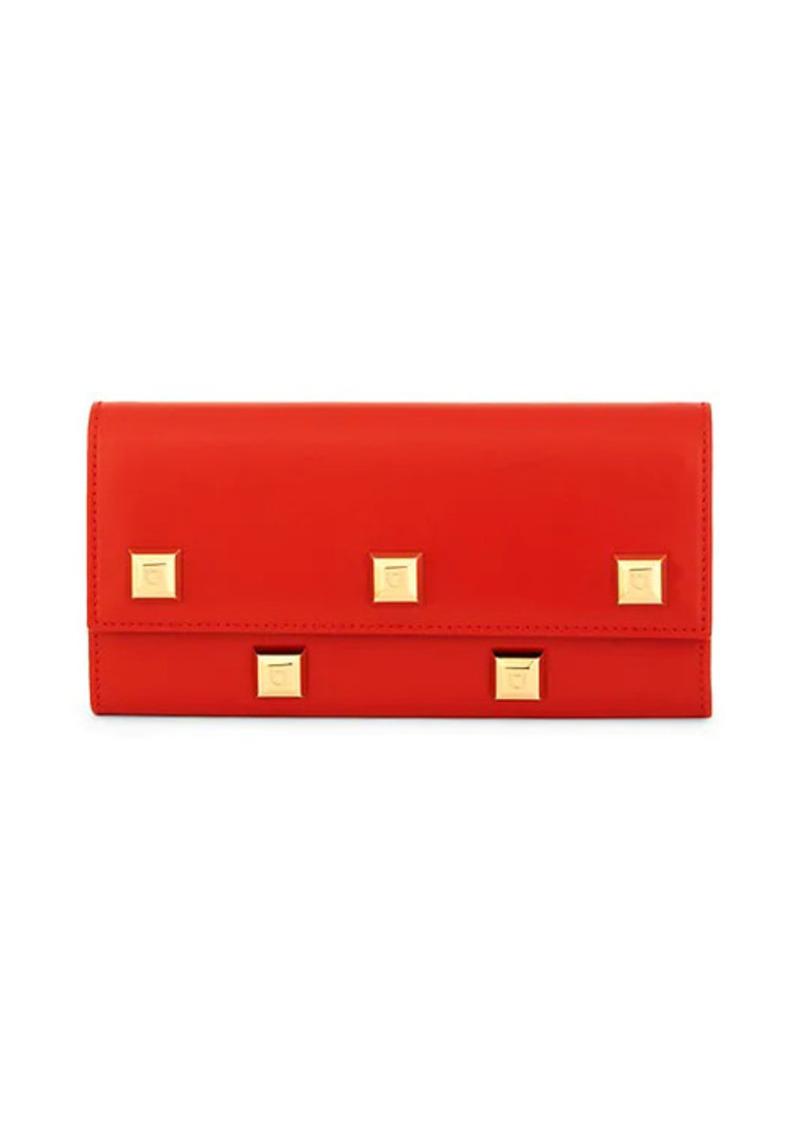 Ferragamo Studded Leather Wallet