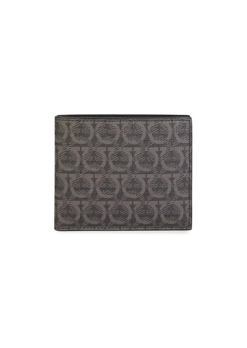 Ferragamo Travel Gancini-Print Bi-Fold Wallet