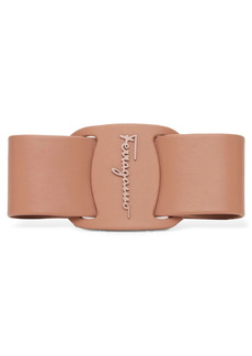 Ferragamo Vara Leather Bow Hair Clip