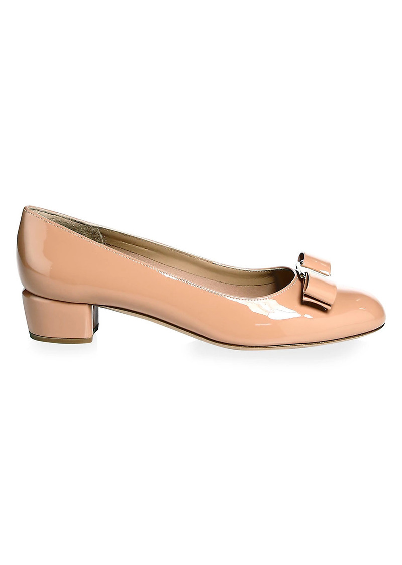Ferragamo Vara Patent Leather Pumps