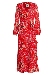 Figue Arabella Ruffle Trim Wrap Dress