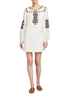 Figue Nara Embroidered Peasant Dress