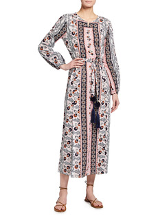 Figue Ravenna Tie-Waist Maxi Dress